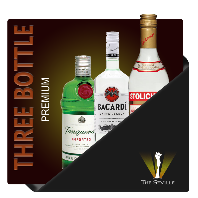 Triple Bottle VIP Package - The Seville Minneapolis Package - Great for Bachelor Parties